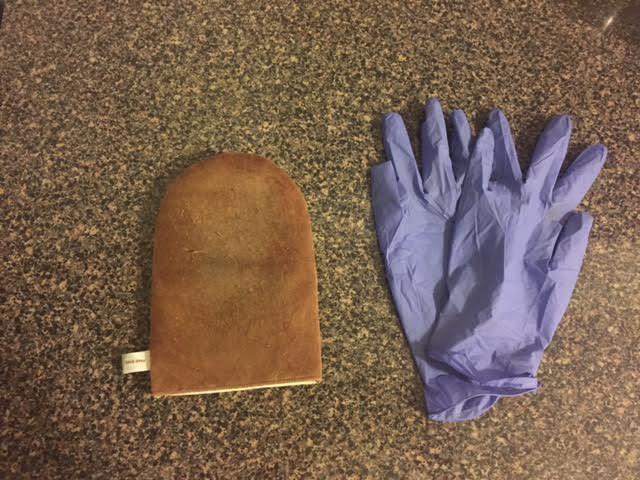 gloves and mitt